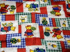 """Primary Bear Patches Check Plaid Stiff Cotton Blend Quilting Fabric 44"""" BTHY"""