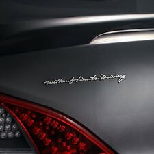 Detailpart Car Driving Cursive Emblem decal sticker for HYUNDAI GENESIS COUPE