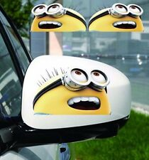 2Pcs Big deal Minions Hide Scratc Wing back Window Vinyl Sticker Graphic Decals