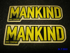 2 AUTHENTIC SMALL MANKIND BMX BIKE FRAME STICKERS #14 / DECALS / AUFKLEBER