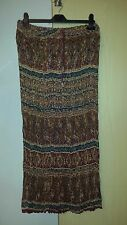 Boho Hippie Gypsy Skirt Size 12 - 14 Ladies Womens Beach Tan Paisley New In Bag