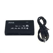 USB 2.0 Cardreader Multi Kartenleser für MS M2 CF XD SD-HC Speicherkarte schwarz