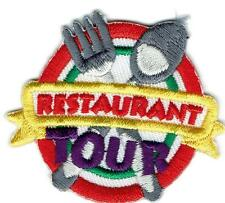Girl Boy Cub RESTAURANT TOUR  night Sign Patches Crests Badges SCOUT GUIDE Visit