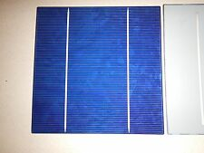 "100 Solar cells 2BB(Buss Bar) 6"" x 6"" (156mm x 156mm) 17.2 EFF. over 4 watts ea."