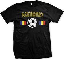 Romanian Europian National Soccer Team Red and Yellow  Mens T-shirt