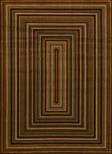 """Multi 2x7  Multicolored Boxes Striped Runner Rug: Actual Size 1' 11"""" x 7' 2"""""""