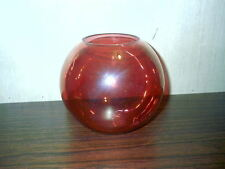 Vintage Cranberry Rose Bowl Vase Delicate Glass