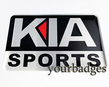 New Brushed Aluminium Kia Sport Car badge Ceed Rio