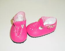 """Doll Shoes, 85mm DARK PINK T-Straps for Chatty Cathy, My Twinn Toddler Baby 20"""""""
