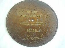 Placa monopolio 21,8cm disc symhonium Kalliope Polyphon Antique Discs Music Box