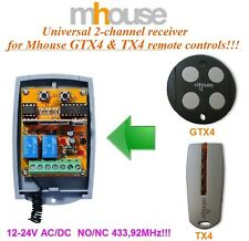 Mhouse R2 compatible universal 2-channel ricevitore, 12-24 VAC/VDC