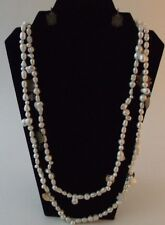 Freshwater Pearl Sterling Silver and Gold Filled Designer Necklace Leslie Fendig