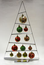 """18"""" CONTEMPORARY CHROME PLATED CHRISTMAS TREE w/ASSORTED SHATTERPROOF ORNAMENTS"""
