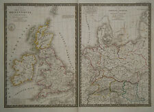 1827 Genuine Antique maps of Ancient Britain & Ancient Germany. by A.H. Brue