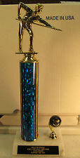 """Pool Billiards Trophy 8-Ball Tournament 14"""" FREE Engraving 2 Day Mail M or F"""