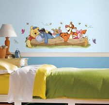 New Giant WINNIE THE POOH OUTDOOR FUN WALL DECALS Kids Stickers Nursery Decor