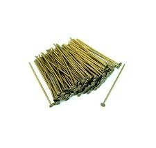 200 x 40mm Antique Bronze Head Pins Craft Findings Jewellery Beading S193
