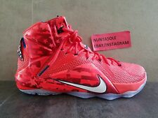 Nike Mens LBJ Lebron James XII Independence Day 4th Shoes (684593 616) Size 10