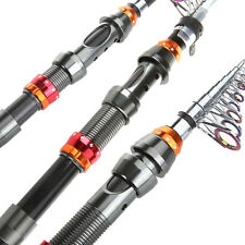 2.1M/6.9FT Portable Carbon Fiber Telescope Fishing Rod Travel Spinning Pole US