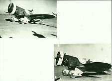 "LOT OF 2: GEE BEE # 5 BLACK & WHITE 4"" X 6"" AIRPLANE PRINTS"