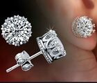 New Hot Silver Jewelry Crystal Crown Classical Retro Stud Earrings