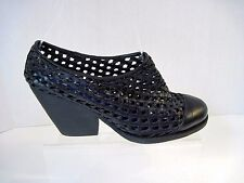 Womens JEFFREY CAMPBELL black leather perforated booties  sz. 7.5 $159.50