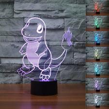 New 3D pokemon go Charmander Night Light 7 Color Change LED Desk Table Lamp