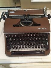 "Vintage 1961 OLYMPIA SM4 ""S"" Portable Typewriter & Case Made In W. Germany"