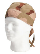 head wrap tri color desert camo camouflage biker bikers rothco
