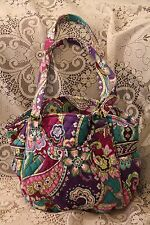 NWT Vera Bradley GLENNA Shoulder Bag Purse HEATHER Blue Purple Flowers $80