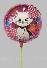 15 x small size MARIE ARISTOCATS kitten foil balloons with stick Only 67p each!!