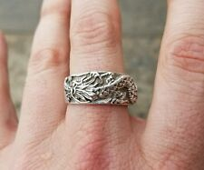 VINTAGE STERLING SILVER CHINESE DRAGON RING 925