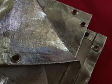 Aluminized Welding Fire Blanket Heat Treated Fiberglass 4 x 6 Shield ARC MIG TIG
