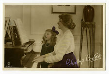 1910's Vintage Gladys Cooper MOTHER DAUGHTER Sing Along piano photo postcard