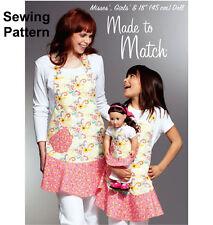 """Kwik Sew K3787 Pattern Misses(S-L), Girls(S-L), 18"""" Dolls Aprons BN"""