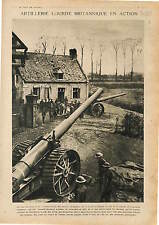 Artillery British Army Tommies Canons Lourds Guns Front Occidental War 1918 WWI