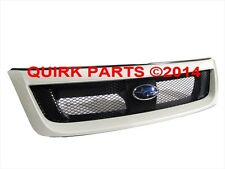 2009-2013 Subaru Forester Sport Mesh Grille Satin White Pearl OEM NEW