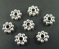 100pcs Tibetan Silver Little Daisy Spacer Beads 6x2mm 1125