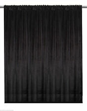 Black Velvet Custom Panel Drape 15W x 8H Movie Theater Show Backdrop Curtain