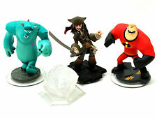 Disney Infinity Figures + Crystal -SULLY, JACK SPARROW, MR INCREDIBLE + CRYSTAL