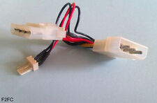 Molex 4-pin Peripheral Power Connector to 3-pin 12V Fan Socket Converter/Adapter