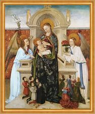 Virgin and Child, Angels and Family of Donors Baro Jesus Maria Engel B A2 00886