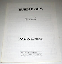 Partition vintage sheet music CLAUDE PHILIP : Bubble Gum * 90's