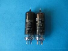 PAIR BRIMAR 6X4 VALVES. D GETTERS. HICKOK TESTED. 1957.