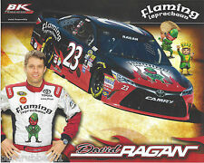 "2016 DAVID RAGAN ""FLAMING LEPRECHAUN"" #23 NASCAR SPRINT CUP POSTCARD"