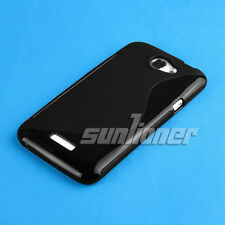 Black Gel TPU Case Skin Cover for HTC One X / XL / S720e  AT&T