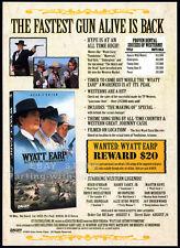 WYATT EARP_Return to Tombstone__Original 1994 Trade AD movie promo__HUGH O'BRIAN