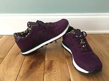 NEW BALANCE 501 WOMENS PURPLE & LEOPARD SNEAKERS SHOES SIZE 7.5 WL501BG