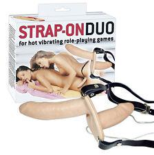 DOPPIO STRAP ON VIBRANTE in lattice indossabile dalla donna