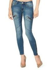 Just Fab Moto Zipper Skinny Jeans Size 29 Box4505 M